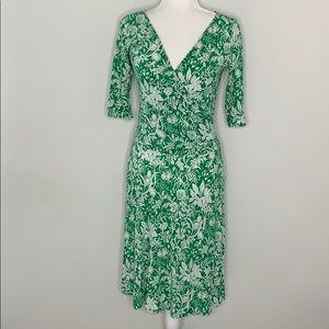 Cabi Floral Faux Wrap Dress